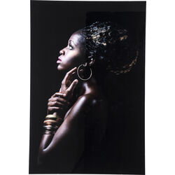 Picture Glass African Queen Profile 80x120cm