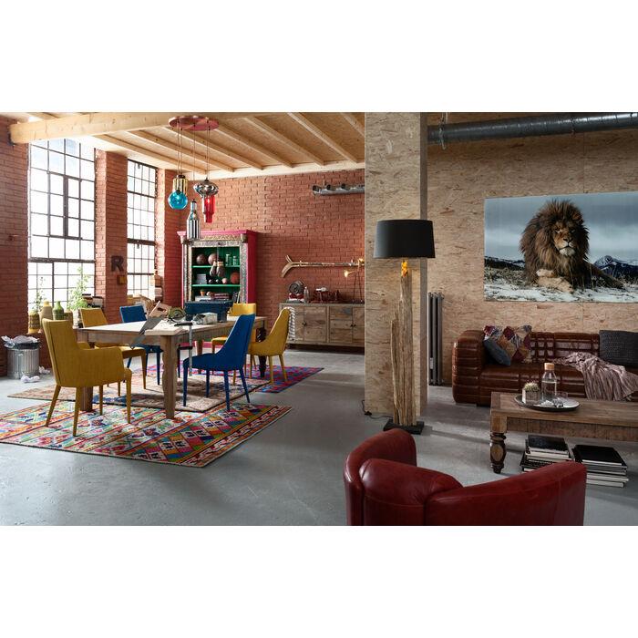 bild glas proud lion 120x180cm kare design. Black Bedroom Furniture Sets. Home Design Ideas
