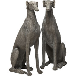 Deco Figurine Greyhound Grey Assorted