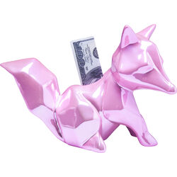 Money Box Fox Glossy Pink