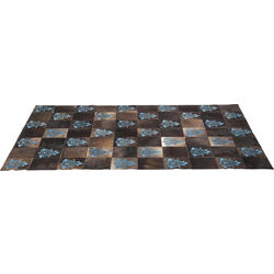 Carpet Square Ornament Blue 170x240cm