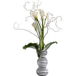 Deco Vase Black Line Swing 35cm