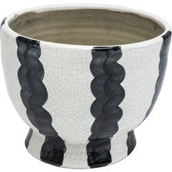 Deco Vase Black Line Bowl 18cm