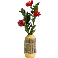Deco Vase Muse Stripes Yellow 29cm