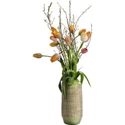 Deco Vase Muse Stripes Green 36cm