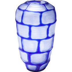 Vase Lamella Oval Blue 36cm
