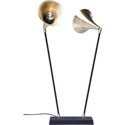 Table Lamp Trumpet Brass Duo