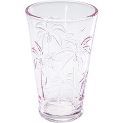 Long Drink Glass Palm Tree Pink