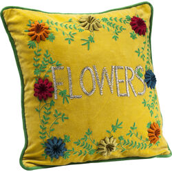 Cushion Flowers Yellow 45x45cm