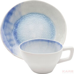 Coffee Cup Crackle White Blue (2/Set)