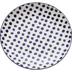 Plate Dots Blue Ø20cm