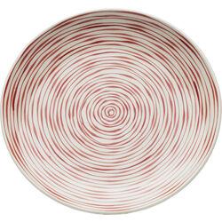 Plate Spiral Red Ø25cm