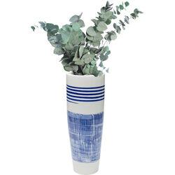 Vase Grid Blue Line 40cm