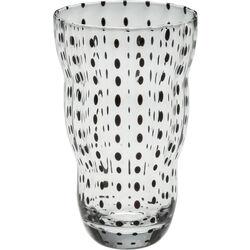 Long Drink Glass Black Dots