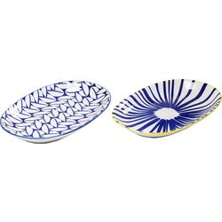 Platter Blu Ora Oval 24cm Assorted