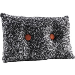 Cushion Buttone Grey 30x50cm