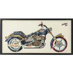 Picture Frame Art Motorbike 61x121cm