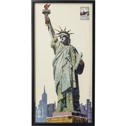 Picture Frame Art Liberty 121x61cm