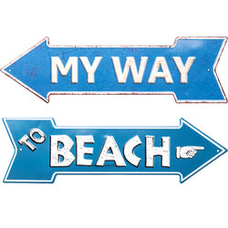 Wall Decoration My Way-Beach 15x51cm Assorted