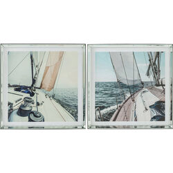 Picture Frame Sailing 80x80cm