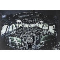Picture Glass Cockpit View 100x150cm