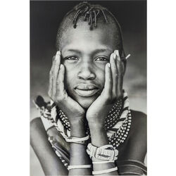 Picture Glass Kenyan Child 120x80cm