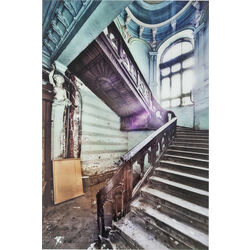 Picture Glass Old Staircase Corner 120x80cm