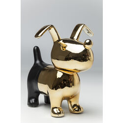 Money Box Dog Gold-Black