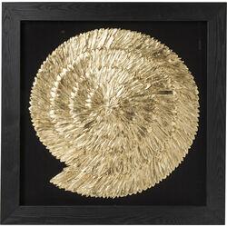 Deco Frame Golden Snail 120x120cm