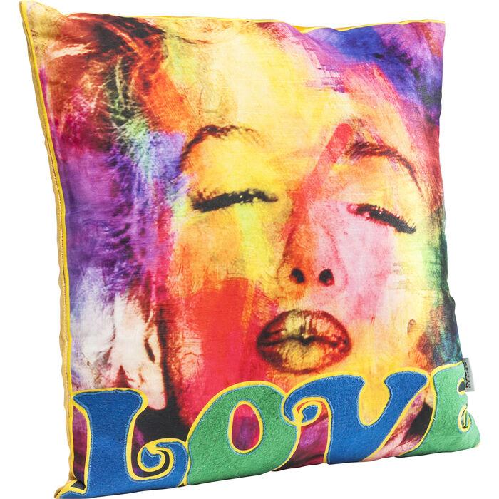 kissen ms monroe s kiss 45x45cm kare design. Black Bedroom Furniture Sets. Home Design Ideas