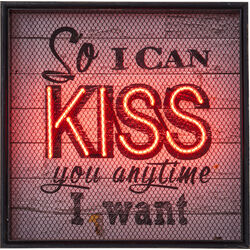 Wall Decoration Kiss NEON Grid