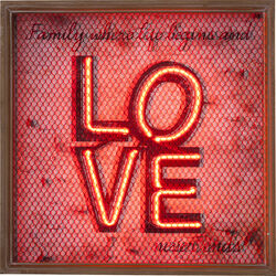 Wall Decoration Love NEON Grid