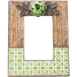 Frame Green Flower 10x15cm