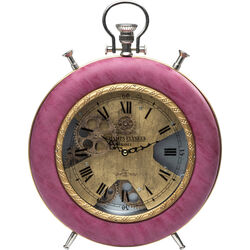 Table Clock Velvet Pink Time