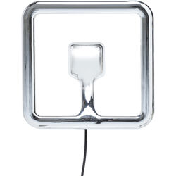 Wall Light Clip Square Chrome LED