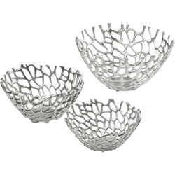Bowl Twig Silver (3/Set)