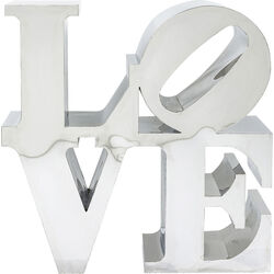 Oggetto decorativo LOVE inox