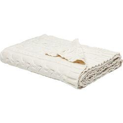 Blanket Knit White 140x200cm