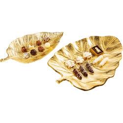 Bowl Leaf Varity Gold (2/Set)