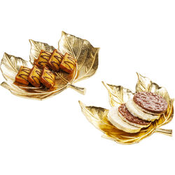Bowl Leaf Gold (2/Set)