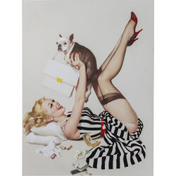 Picture Touch Pin Up and Dog 120x90cm