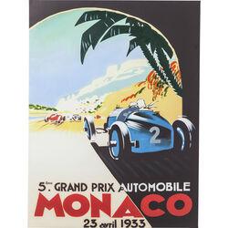 Picture Poster Vintage Monaco 120x90cm
