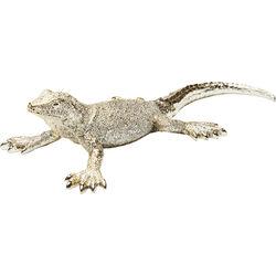 Figura decorativa Lizard dorado mate pequeño