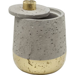 Jar Concrete Gold