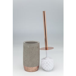 Toilet Brush Holder Concrete Copper