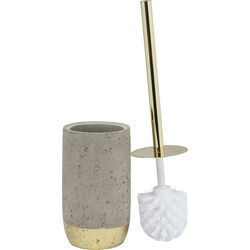 Toilet Brush Holder Concrete Gold