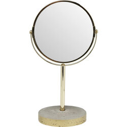 Table Mirror Concrete Gold