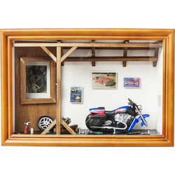 Deco Shadow Box Garage Motorbike