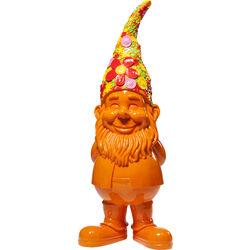 Deco Figurine Gnome Flower Power Orange