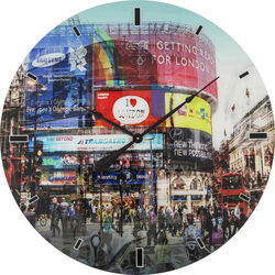 Wall Clock Glass Piccadilly Circus Ø80cm